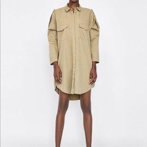 Zara Oversize over-shirt size large nwot